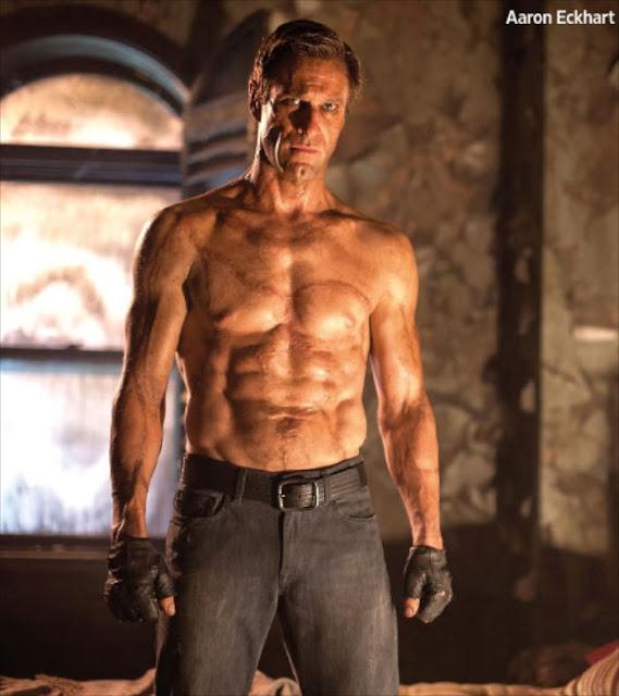 Primera foto oficial de Aaron Eckhart luciendo abdominales en 'I, Frankenstein'