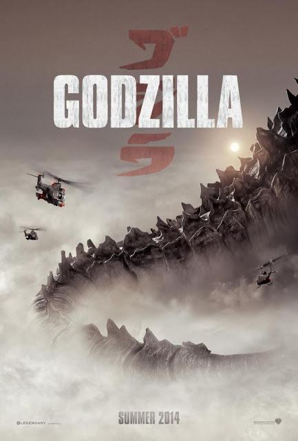 Otro póster más de 'Godzilla', donde ya apreciamos el descomunal tamaño del monstruo