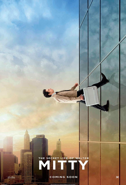 Ben Stiller a lo Spiderman en el nuevo póster de 'La vida secreta de Walter Mitty'