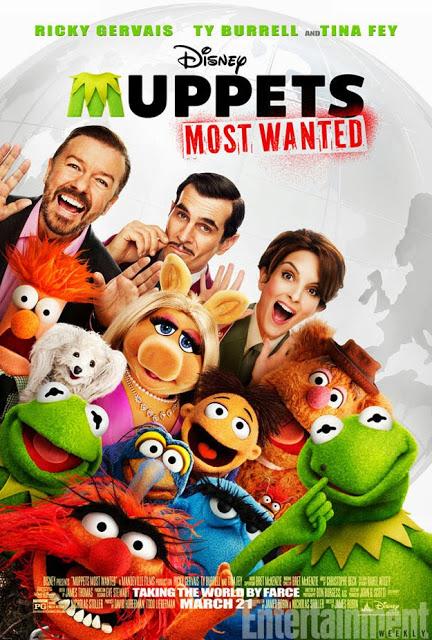 Llega el póster de 'Muppets most wanted' con una malvada Rana Gustavo