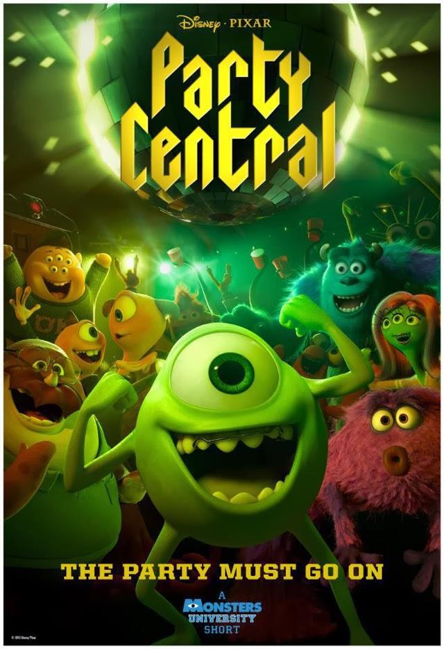 Nuevo póster del corto 'Party central', de la saga 'Monstruos'