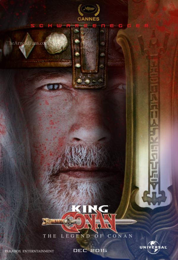 Primer póster de 'The legend of Conan, con Arnold Schwarzenegger