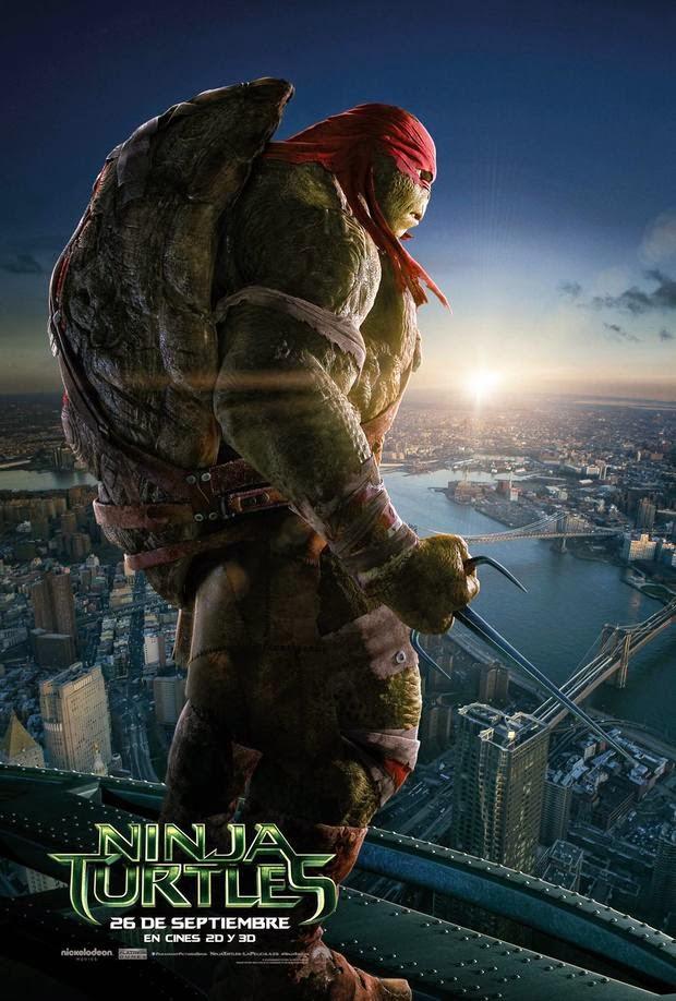 Pósters de 'Ninja Turtles' centrados en Leonardo, Michelangelo, Raphael y Donatello