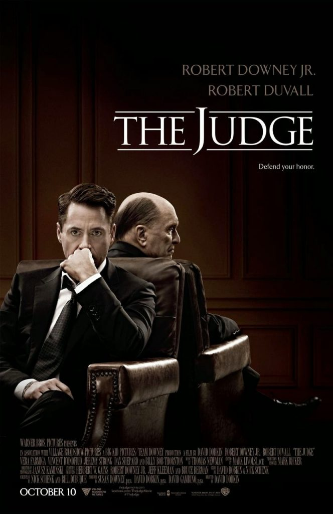 Robert Downey Jr. revela póster y tráiler de 'The Judge'