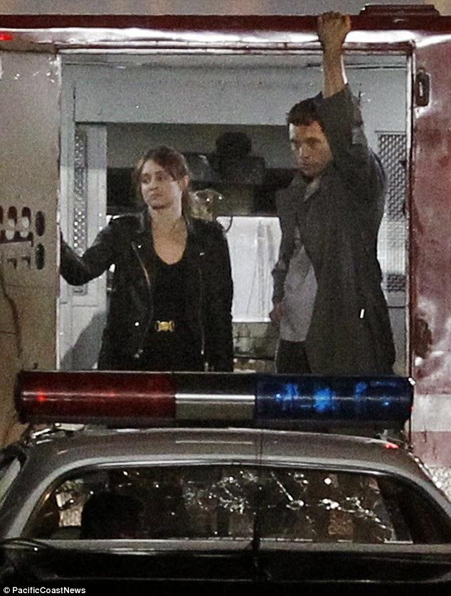 Fotos del rodaje de una escena de acción del reinicio de 'Terminator'