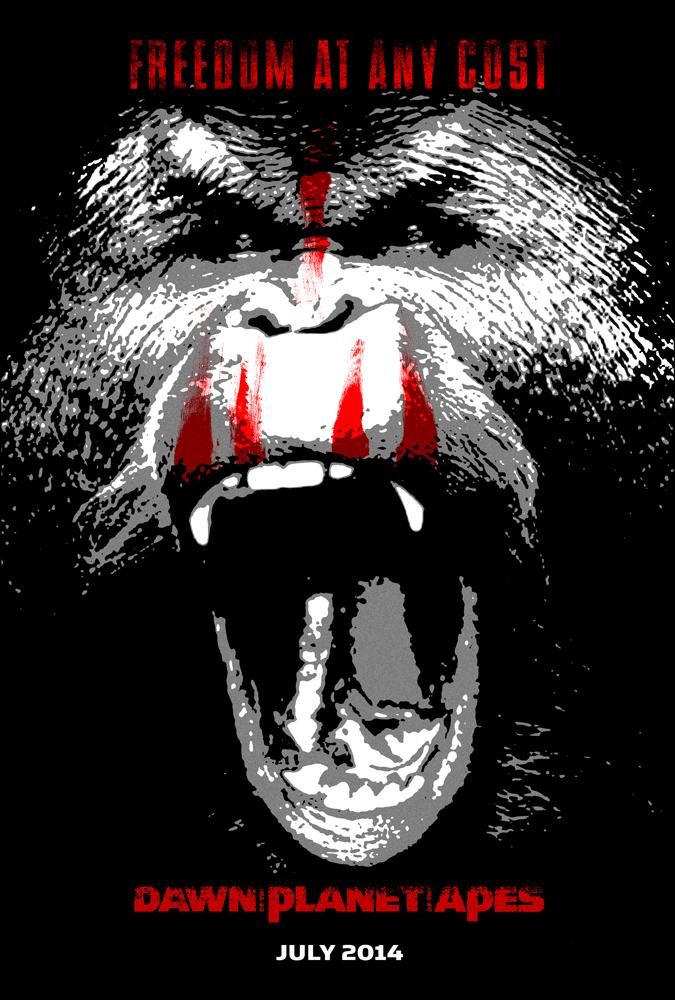 Diseños exclusivos de pósters de 'El amanecer del planeta de los simios'