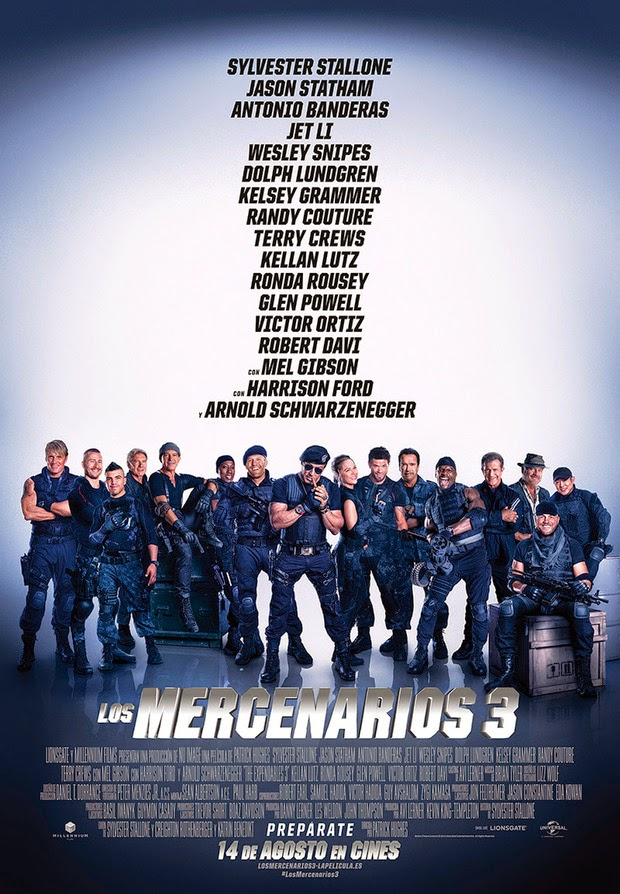 Póster español de 'Los Mercenarios 3', que será presentada en el festival Starlite de Marbella