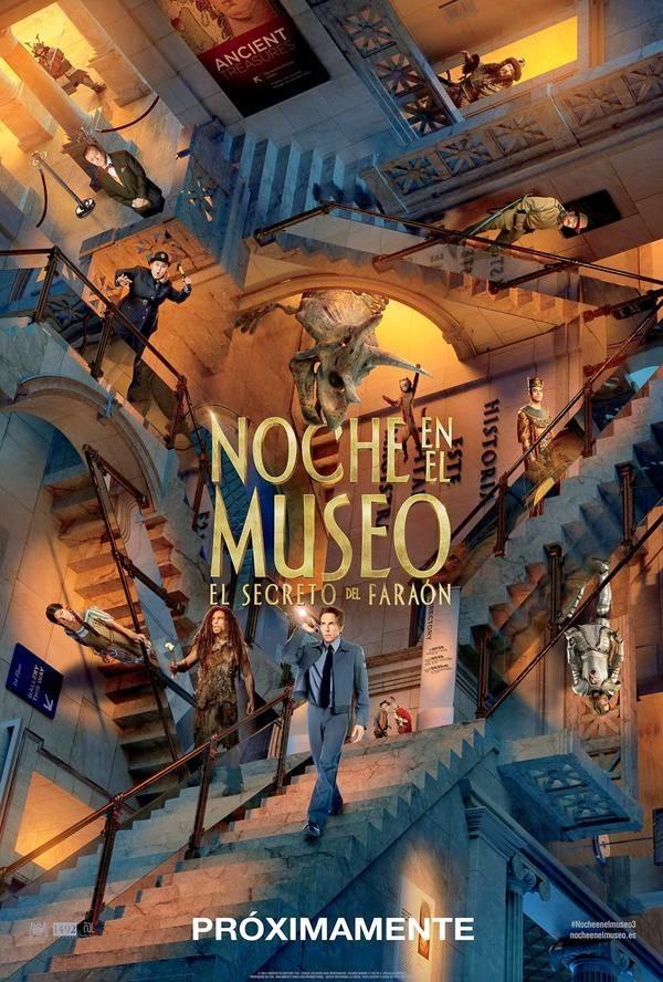 Téaser póster y tráiler español de 'Noche en el museo: El secreto del faraón'