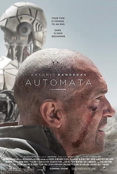 Pósters de 'Autómata', con Antonio Banderas, que se presentará en el Festival de San Sebastián