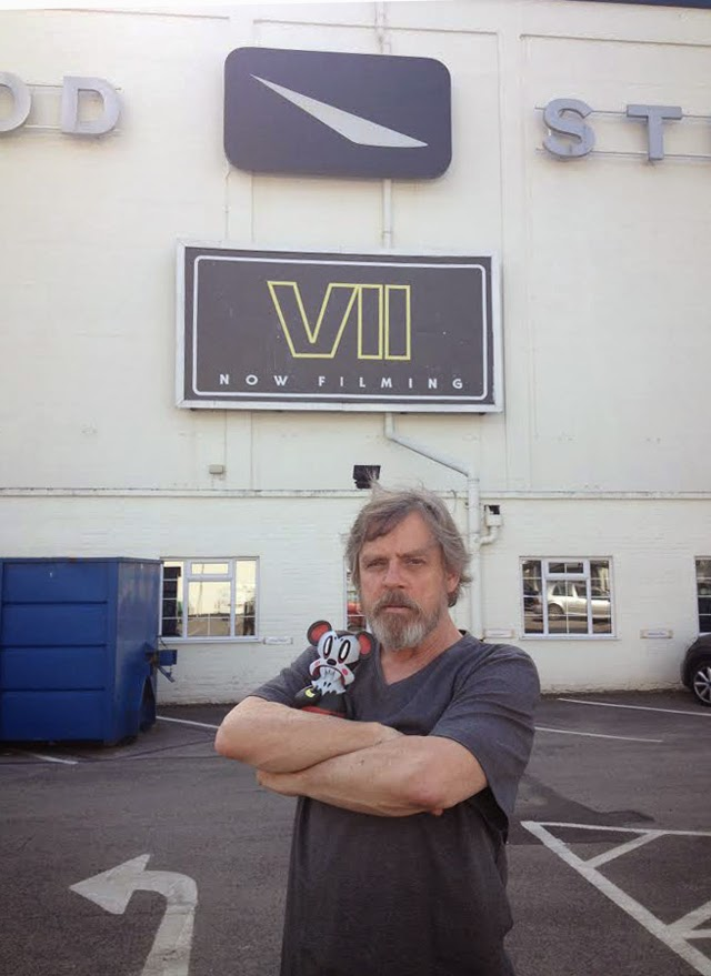 Mark Hamill ya luce barba en el set de 'Star Wars: Episodio VII'