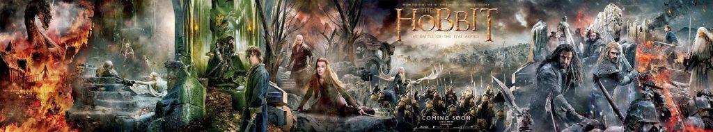 Gigantesco banner de 'El Hobbit: La batalla de los cinco ejércitos'