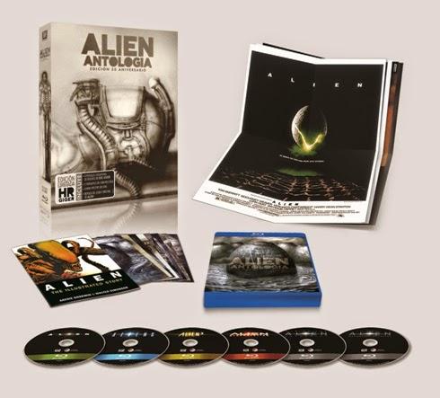 En octubre a la venta 'Alien Antología Edición 35 Aniversario' en Blu-ray