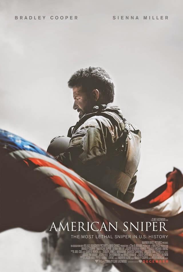 Póster, primeras imágenes y tráiler de 'American Sniper', de Clint Eastwood con Bradley Cooper y Sienna Miller