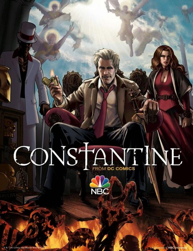 Nuevo póster ilustrado y anuncio de la serie 'Constantine'