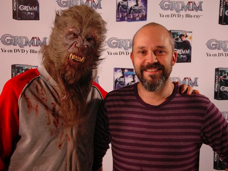 El maquillador Arturo Balseiro crea un hombre lobo por el lanzamiento de 'Grimm'