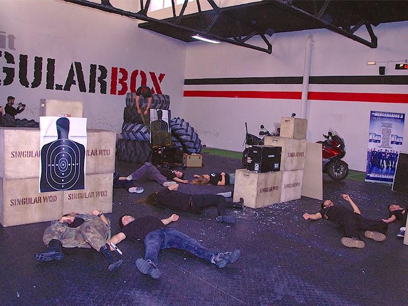 Clase magistral de especialistas por el lanzamiento de 'Los mercenarios 3' en DVD y Blu-ray