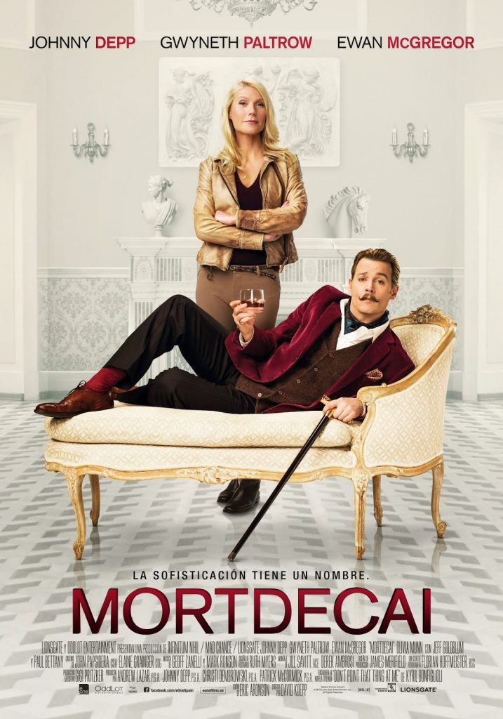 Pósters individuales, oficial y tráiler español de 'Mortdecai' con Johnny Depp, Paul Bettany, Gwyneth Paltrow y Ewan McGregor