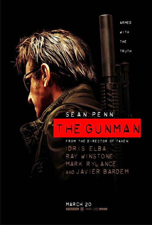Pósters de 'The Gunman', con Sean Penn al frente de la acción