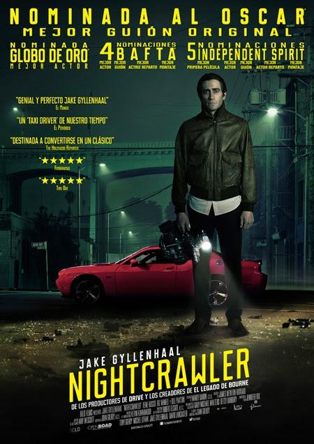 Filmax presenta el póster español de 'Nightcrawler'