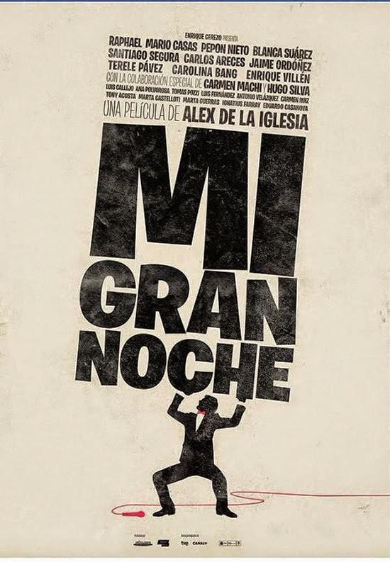 Teaser póster de 'Mi gran noche', la nueva película de Álex de la Iglesia