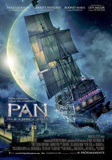 Póster y tráiler español de 'PAN viaje a nunca jamás'
