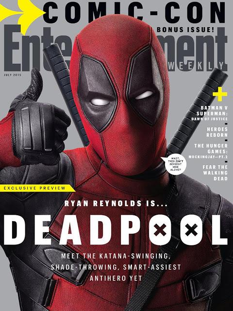 El Mercenario Bocazas de 'Masacre' ('Deadpool') acapara portada de Entertainment Weekly