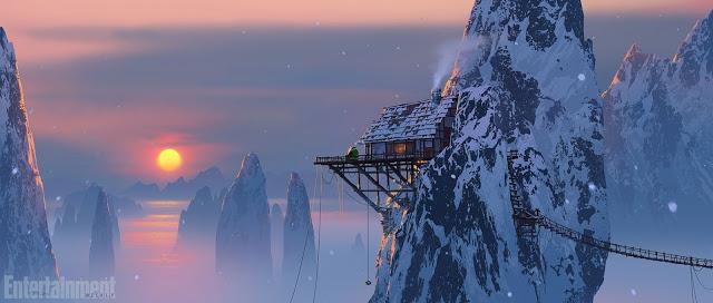 Imágenes de arte conceptual de 'Kung Fu Panda 3' del poblado panda