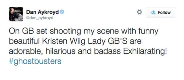Dan Aykroyd tiene un cameo en el reinicio de 'Los Cazafantasmas'