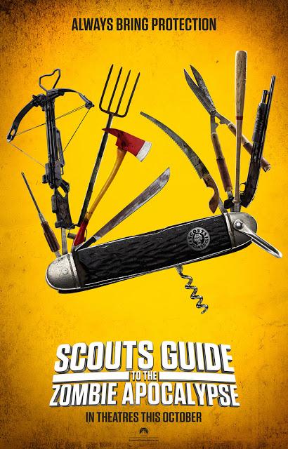 Tráiler restringido y póster de 'Scouts Guide to the Zombie Apocalypse'