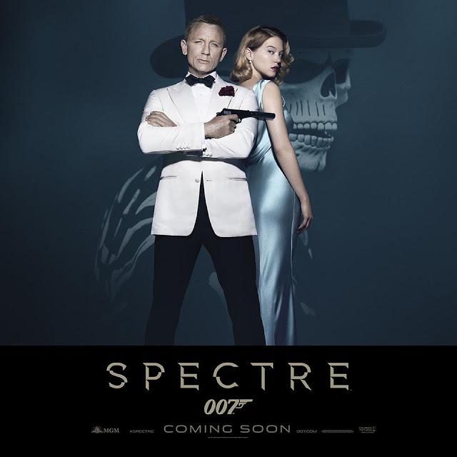 Nueva póster de 'Spectre' con Daniel Craig y Léa Seydoux
