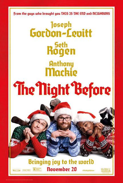 Póster navideño de 'The Night Before' con Joseph Gordon-Levitt, Seth Rogen y Anthony Mackie