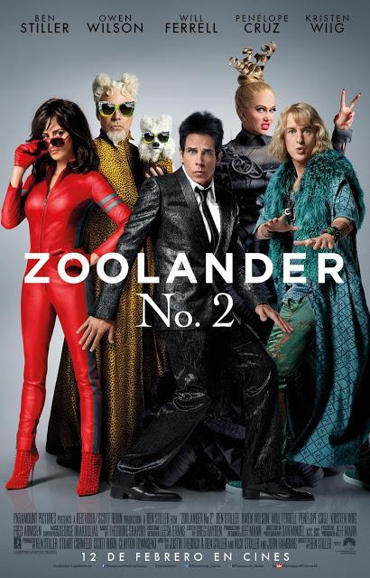 Póster final en castellano de 'Zoolander nº 2', con todo el reparto