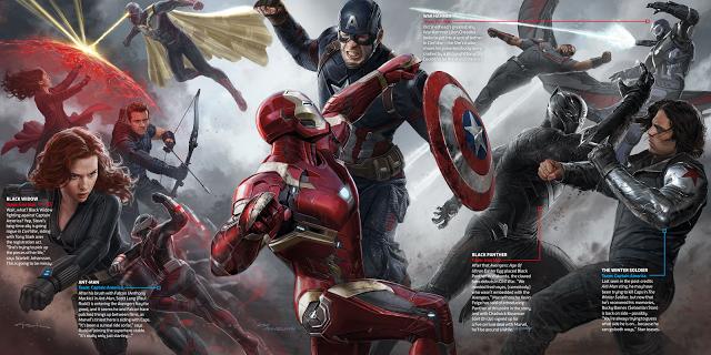 Todos los superhéroes reunidos en el arte conceptual de 'Capitán América: Civil War'