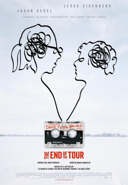 Póster y tráiler español de 'The End of the Tour' con Jason Segel y Jesse Eisenberg