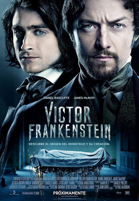 Póster y tráiler español de 'Victor Frankenstein' con Daniel Radcliffe y James McAvoy