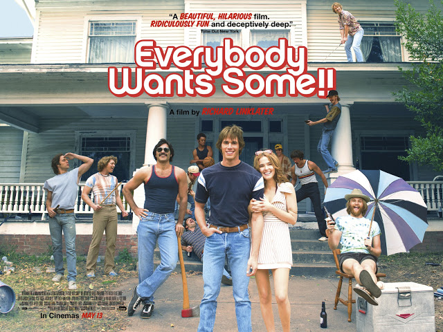 Póster británico de 'Everybody Wants Some!!' de Richard Linklater