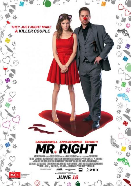 Póster australiano de 'Mr. Right' de Paco Cabezas