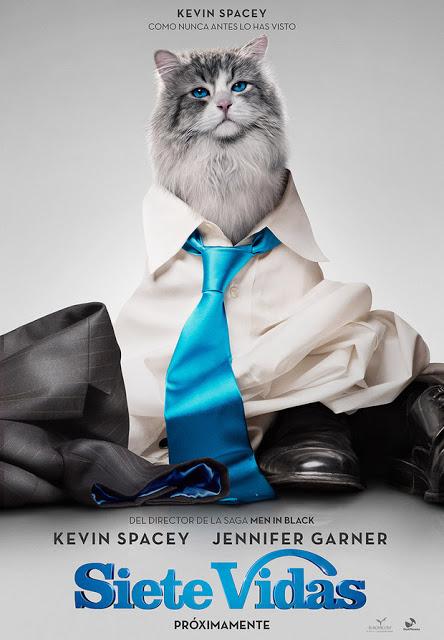 Teaser tráiler y teaser póster de 'Siete vidas' con Kevin Spacey y Jennifer Garner