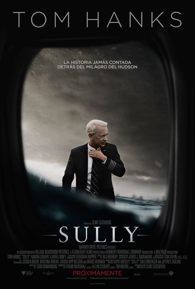 Póster español de 'Sully' de Clint Eastwood con Tom Hanks