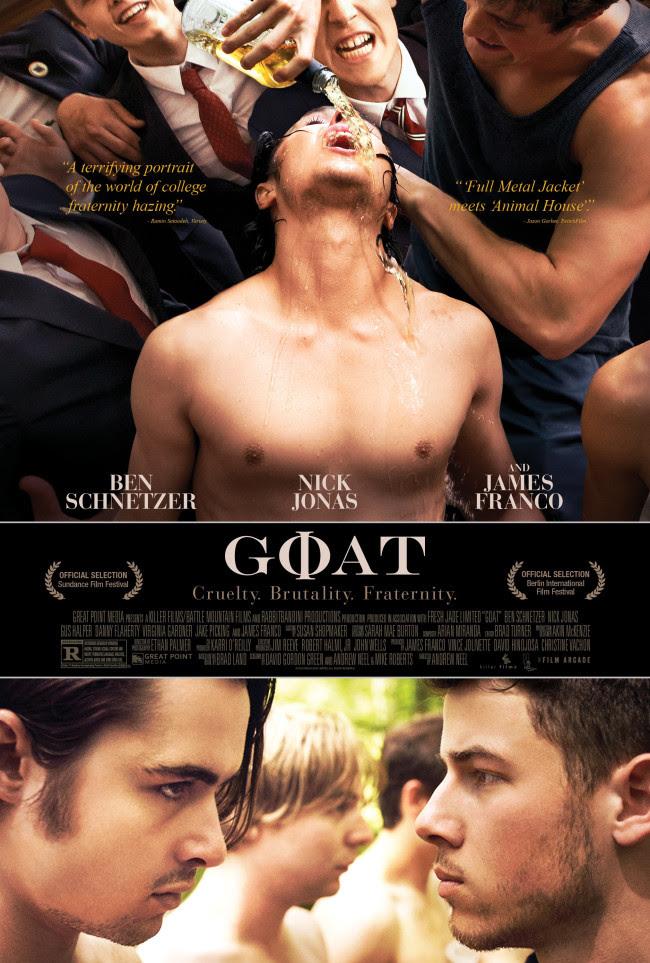 Primer tráiler de 'Goat', con Nick Jonas y James Franco