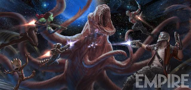 Groot sale del tiesto en la nueva imagen de arte conceptual de 'Guardians of the Galaxy Vol. 2'