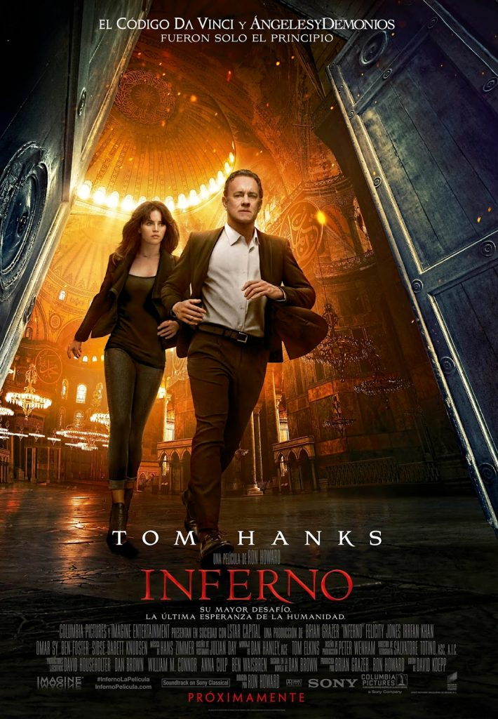 Póster final español de 'Inferno' con Tom Hanks