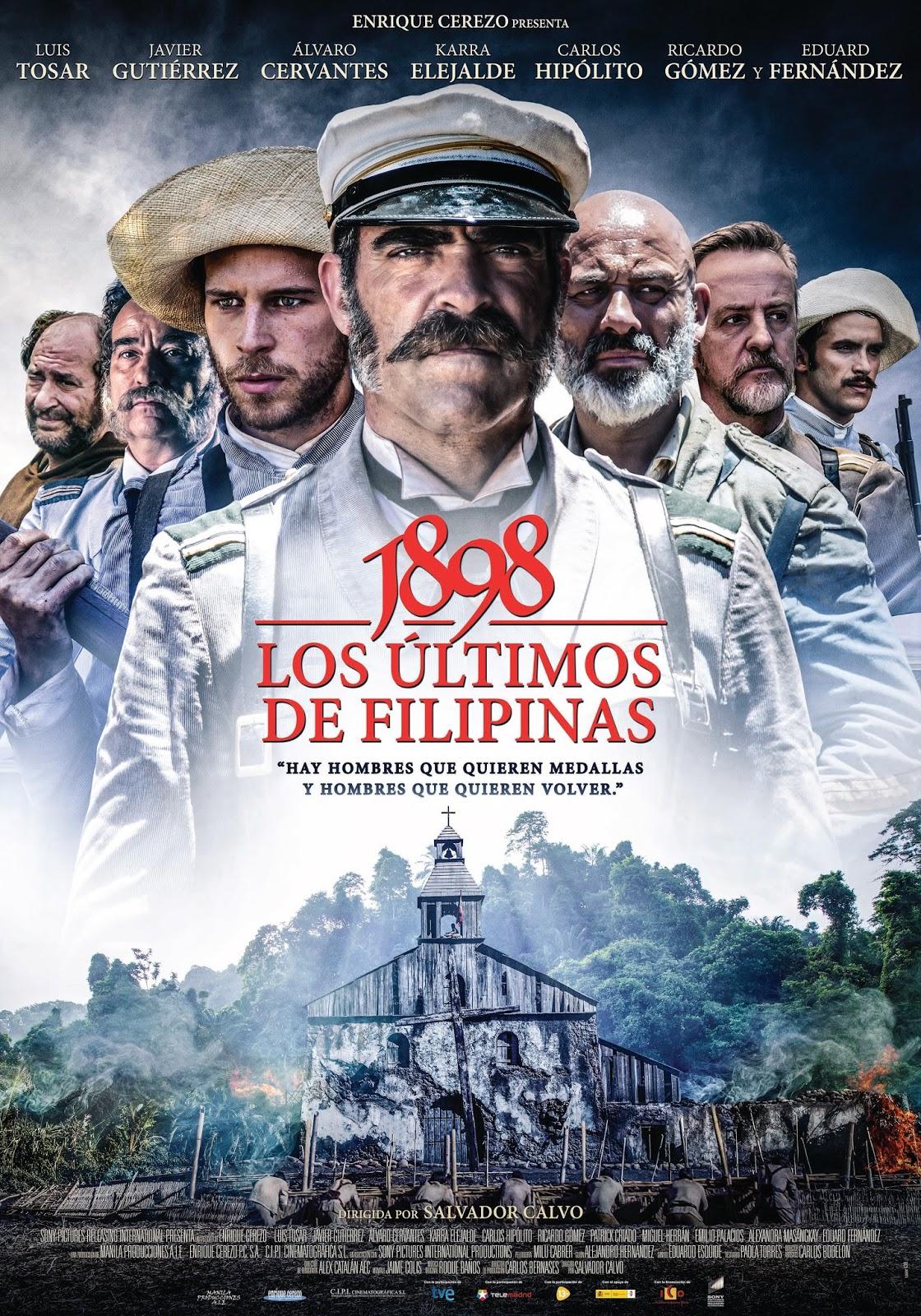 Póster oficial de '1898. Los últimos de Filipinas'
