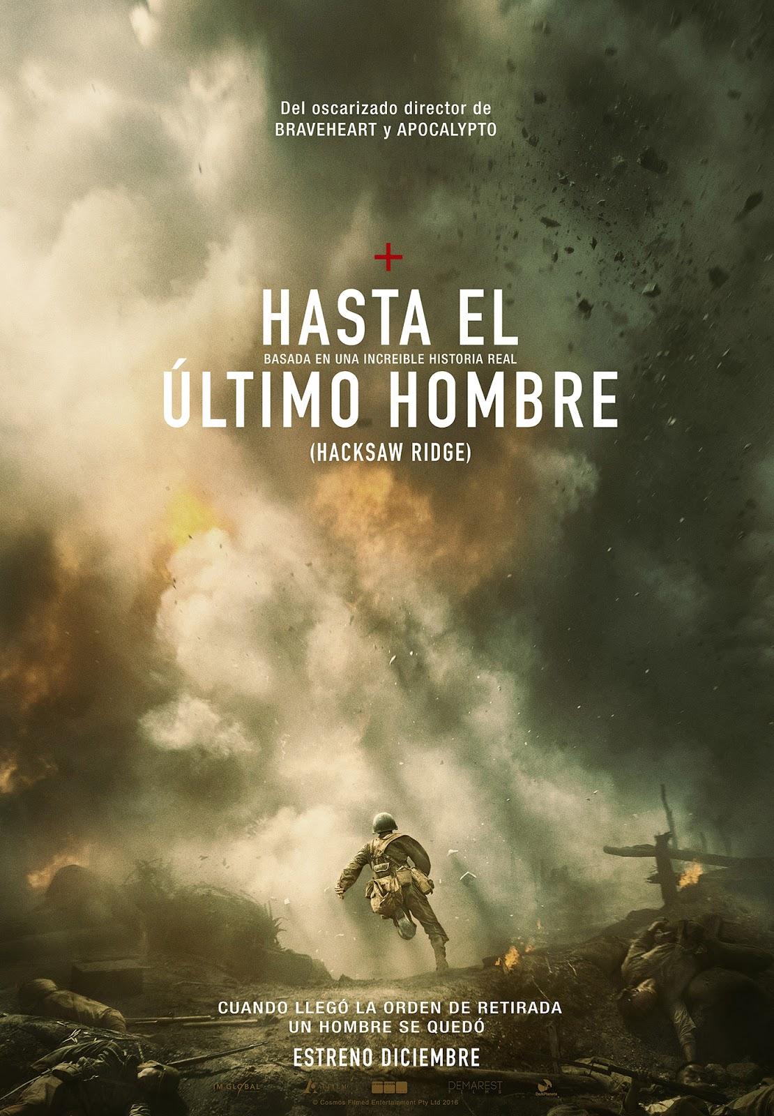 Tráiler y teaser póster de 'Hasta el último hombre' ('Hacksaw Ridge')