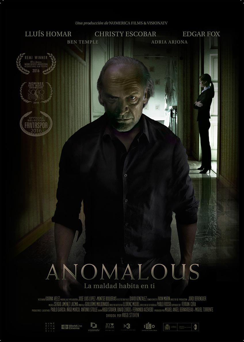 Póster y fecha de estreno de 'Anomalous' con Lluis Homar, Christy Escobar y Edgar Fox
