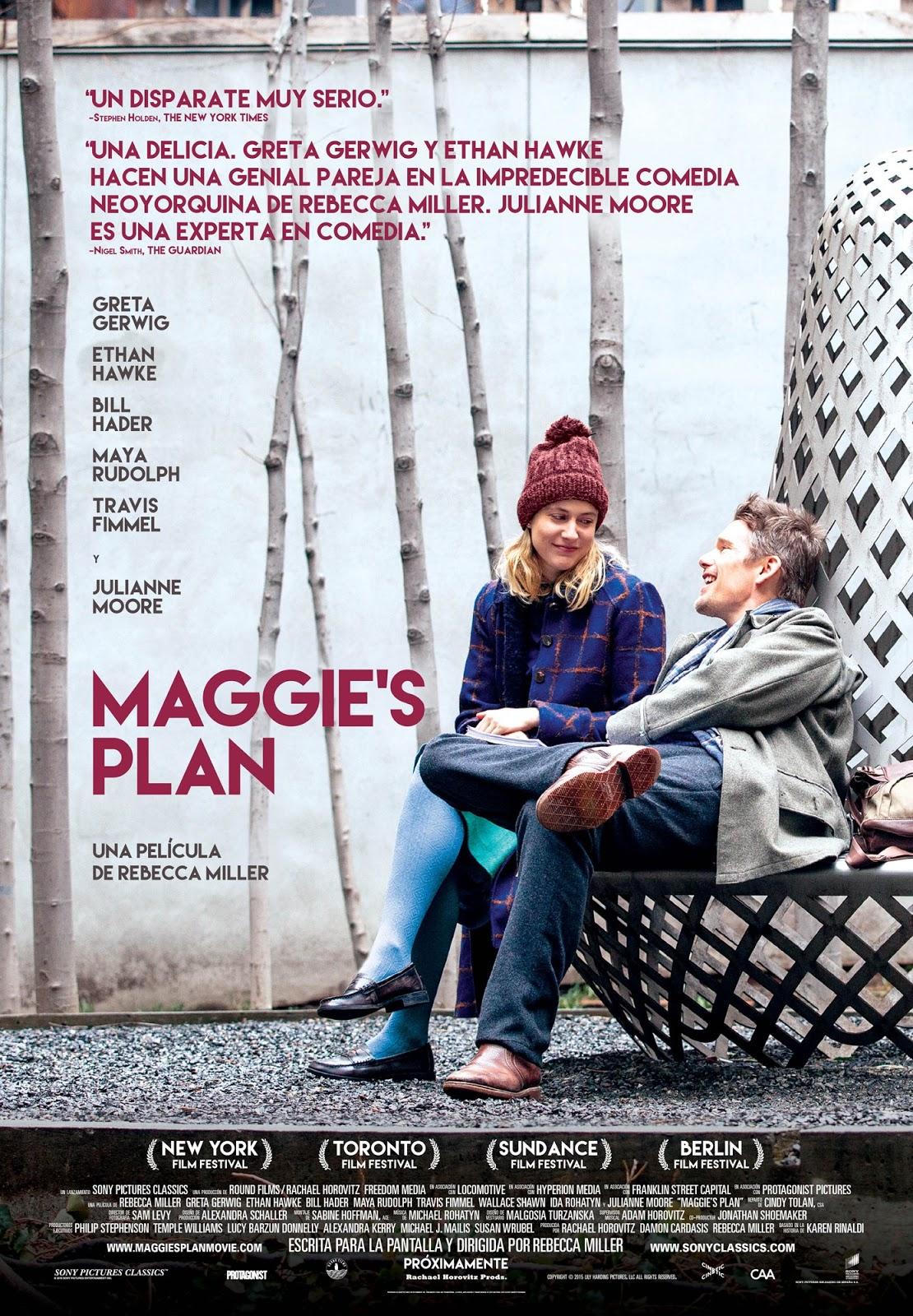 Tráiler y póster oficial español de 'Maggie's Plan'