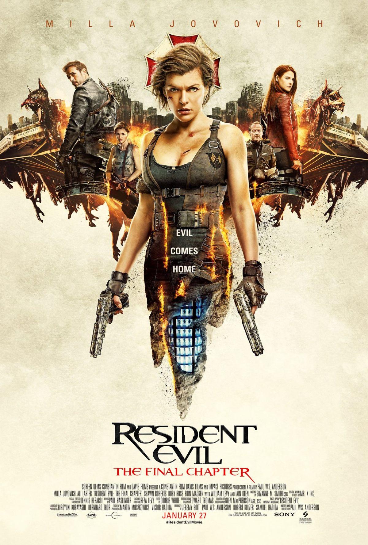 Nuevo póster internacional de 'Resident Evil: El capítulo final'