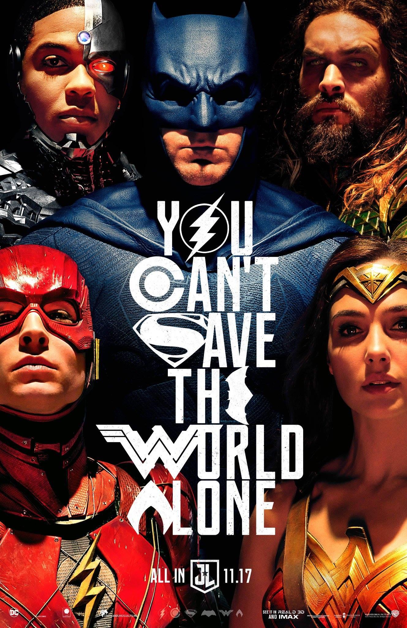 La liga de la justicia Comic Con póster