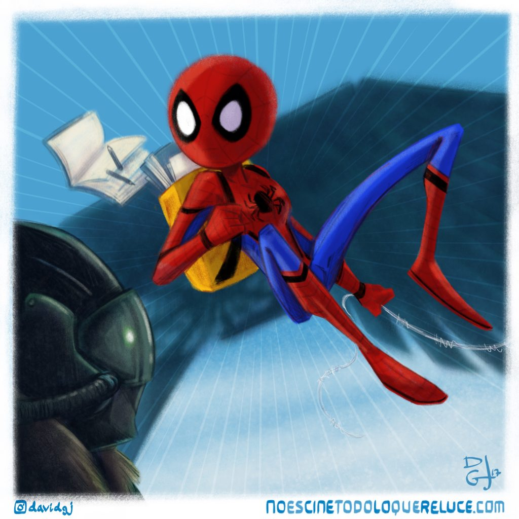 Ilustración 'Spider-Man: Homecoming' por David GJ