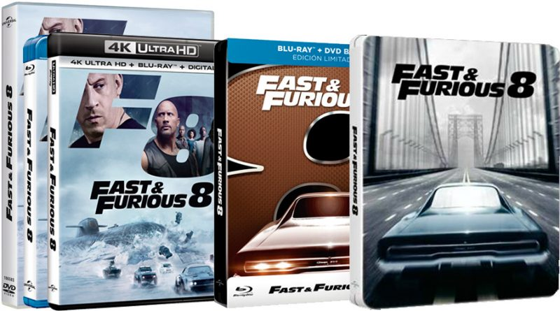 39 fast furious 8 39 ya a la venta en dvd 4k uhd blu ray. Black Bedroom Furniture Sets. Home Design Ideas